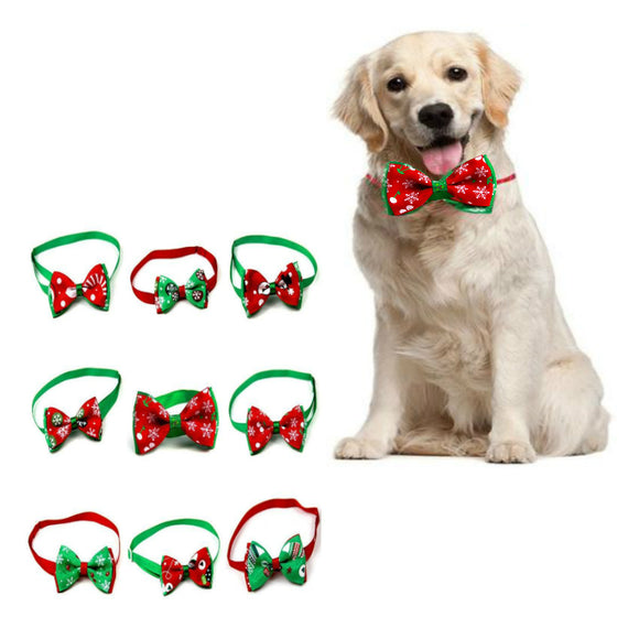 Christmas Dog Bow Tie Neck Strap