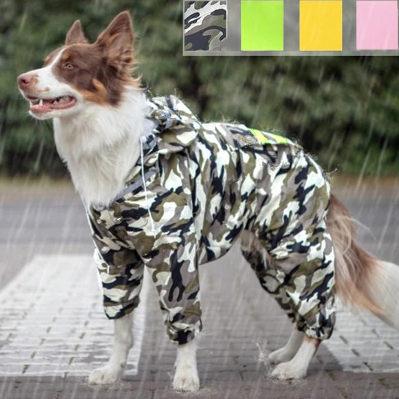 Hooded Dog Raincoat