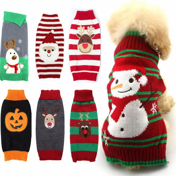 Wool Christmas Dog Pullover Sweater