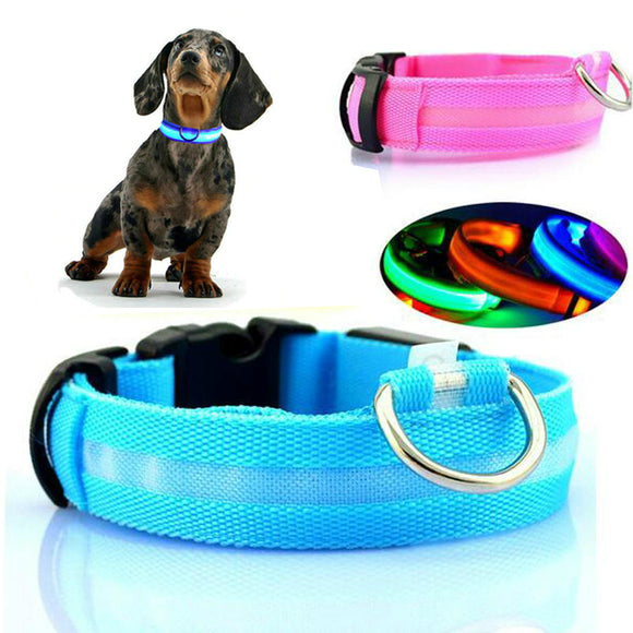 Nylon LED Light Pet Collars