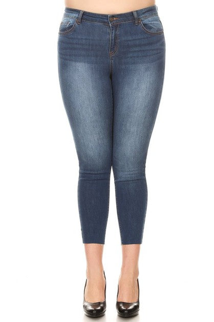 Curvy Medium Push Up Ankle Skinny Jeans