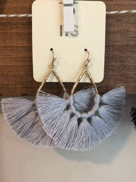 Fringe Fan Earrings