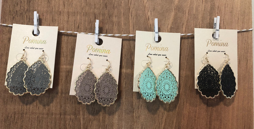 Lace Oval Earrings