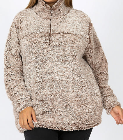 So Soft and Comfy Sherpa Pullover