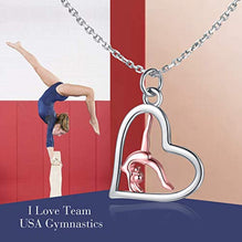925 Sterling Silver Gymnasts Pendant Charm Necklace Sport Gymnastic Fine Jewelry Gifts For Women For Her