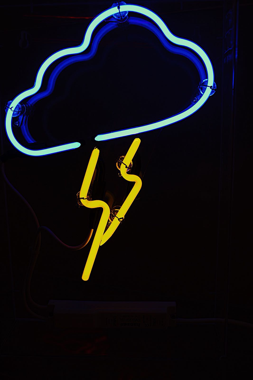 stormy neon light cloud