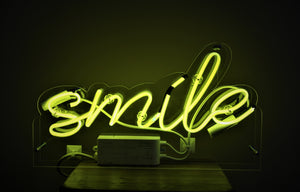 smile neon light lamp