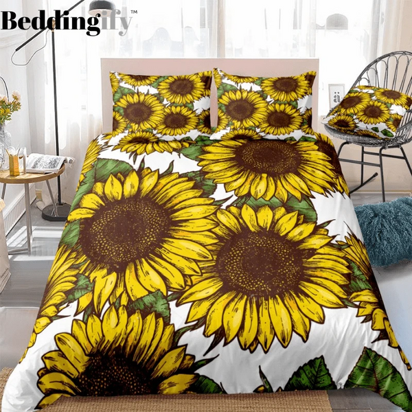 Hippie Sunflowers Bedding Set