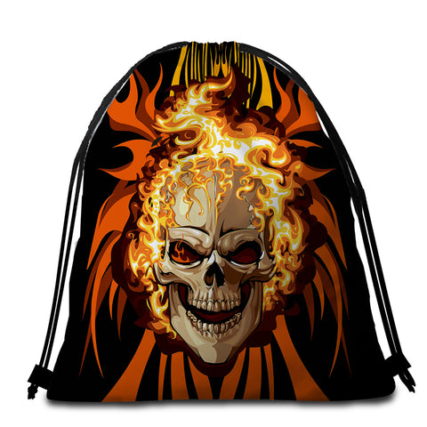 Image of Hell Rider Round Beach Towel Set - Beddingify