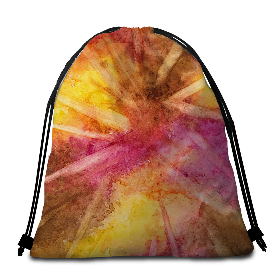 Dusty Color Round Beach Towel Set - Beddingify