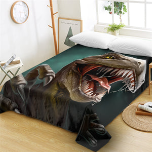 3D T-Rex Flat Sheet - Beddingify