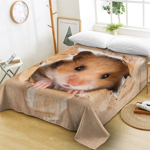 3D Hamster Flat Sheet - Beddingify