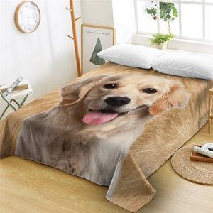 3D Dog Furry Flat Sheet - Beddingify