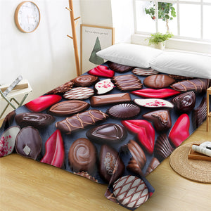3D Chocolate Flat Sheet - Beddingify