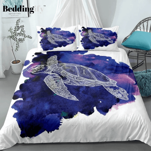 Image of Purple Sea Turtle Bedding Set - Beddingify