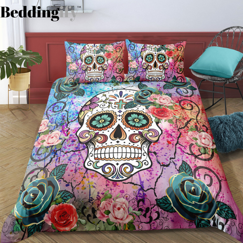 D6 Skull Bedding Set - Beddingify