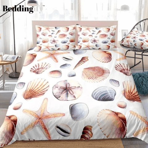 Image of Shells and Starfish Ocean Bedding Set - Beddingify