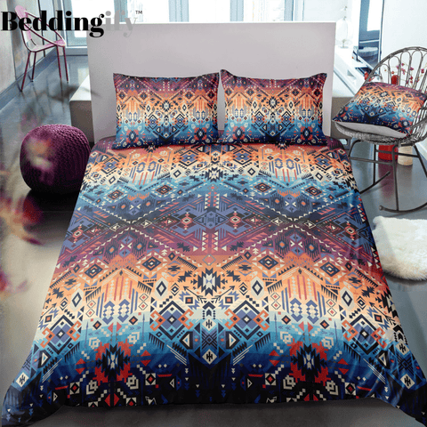 Indian inspired - Pueblo Aztec Bedding Set - Beddingify