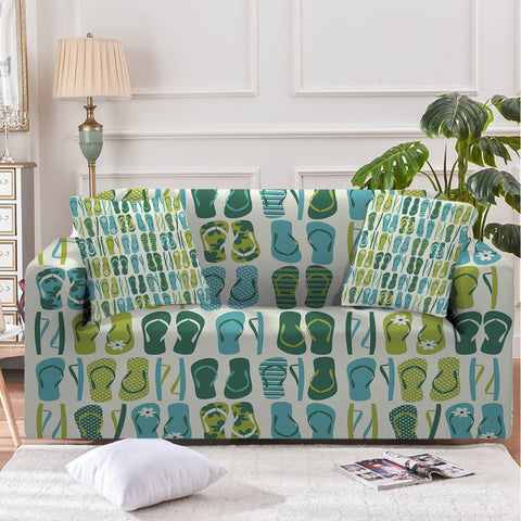 Image of Flip Flop Frenzy Sofa Cover - Beddingify