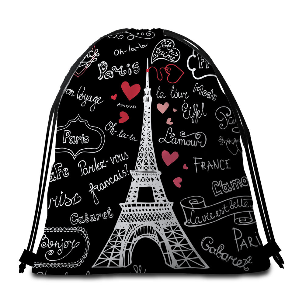 Iconic Eiffel Round Beach Towel Set - Beddingify