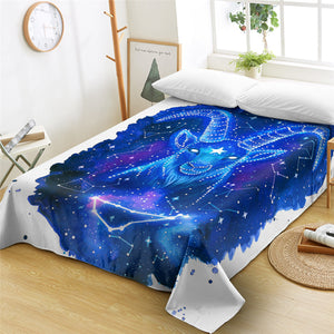 BLue Aries Flat Sheet - Beddingify