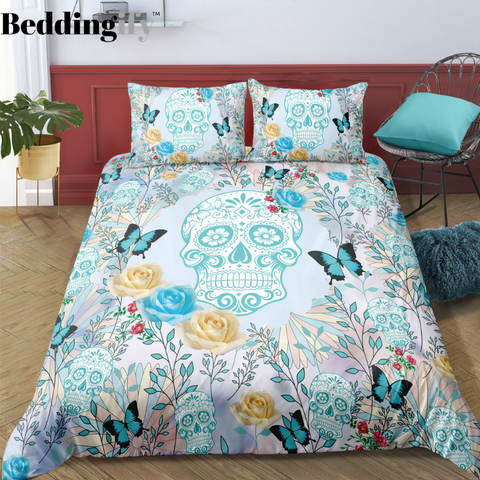 D9 Skull Bedding Set - Beddingify
