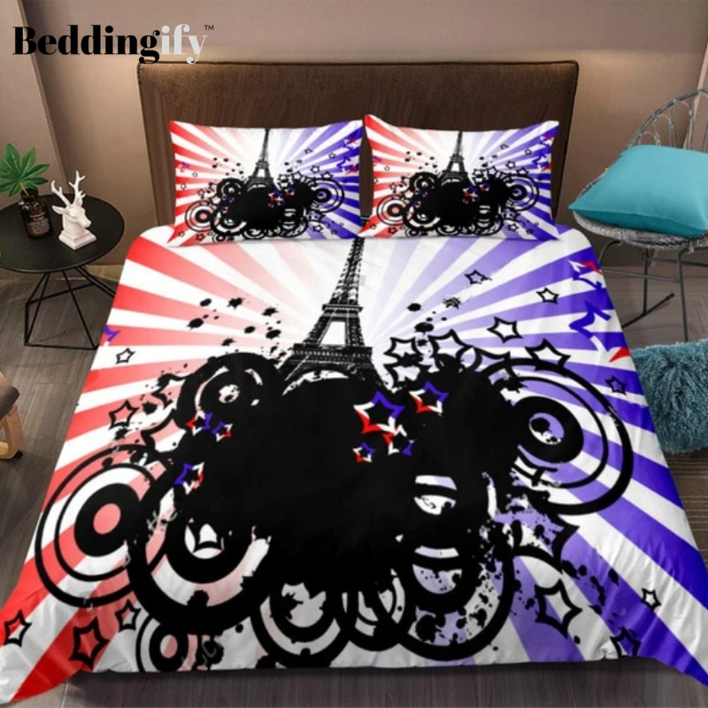 Modern Style Colorful Tower Bedding Set - Beddingify