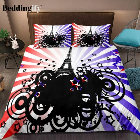 Image of Modern Style Colorful Tower Bedding Set - Beddingify