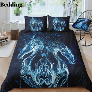 Blue Dragon Bedding Set