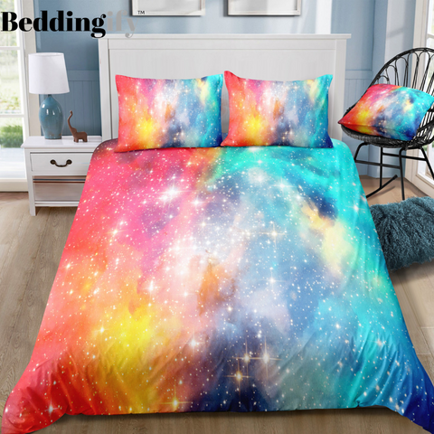 Image of Colorful Universe Bedding Set - Beddingify