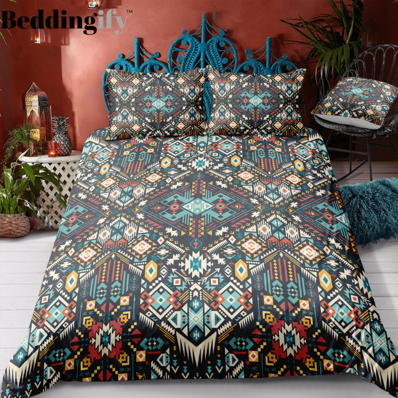Indian inspired - Iroquois Aztec Bedding Set - Beddingify