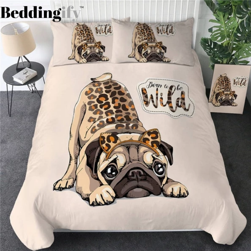 Wild Pug Bedding Set - Beddingify