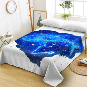 Blue Cetus Flat Sheet - Beddingify