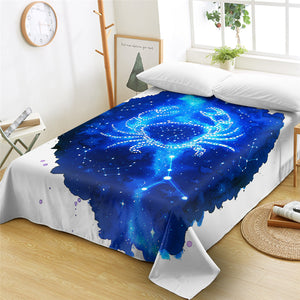 Blue Cancer\ Flat Sheet - Beddingify