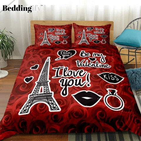 Red Rose Lovers Bedding Set - Beddingify