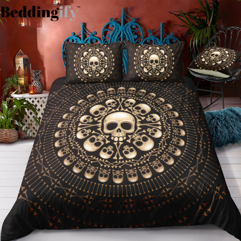 E4 Skull Bedding Set - Beddingify