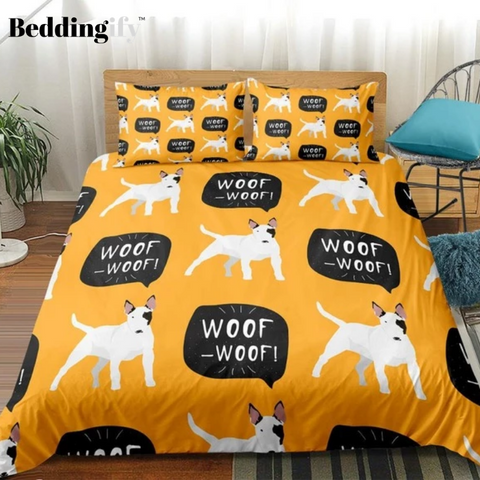 Image of Cute Cartoon Dog Bedding Set - Beddingify
