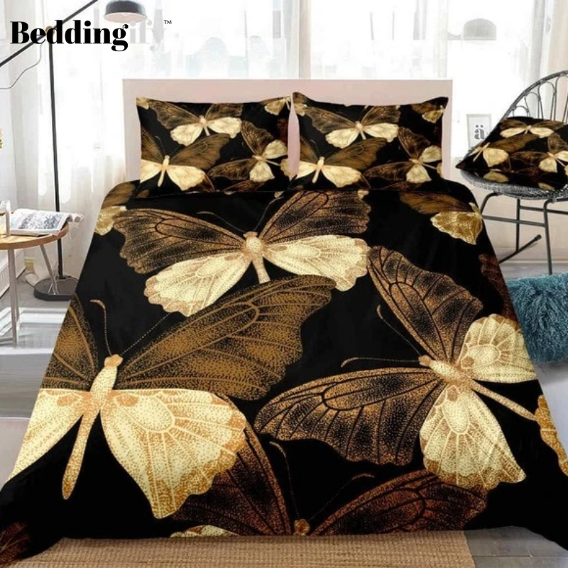 Pretty Flying Butterfly Bedding Set - Beddingify