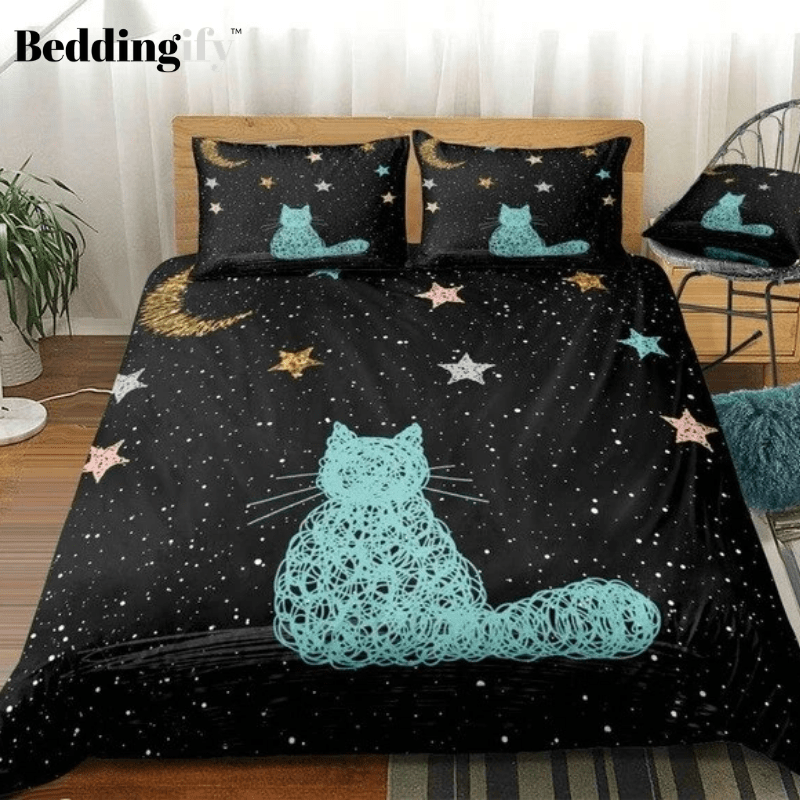 Galaxy Cat Bedding Set - Beddingify