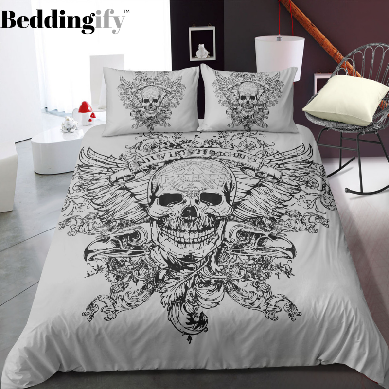 E9 Skull Bedding Set - Beddingify