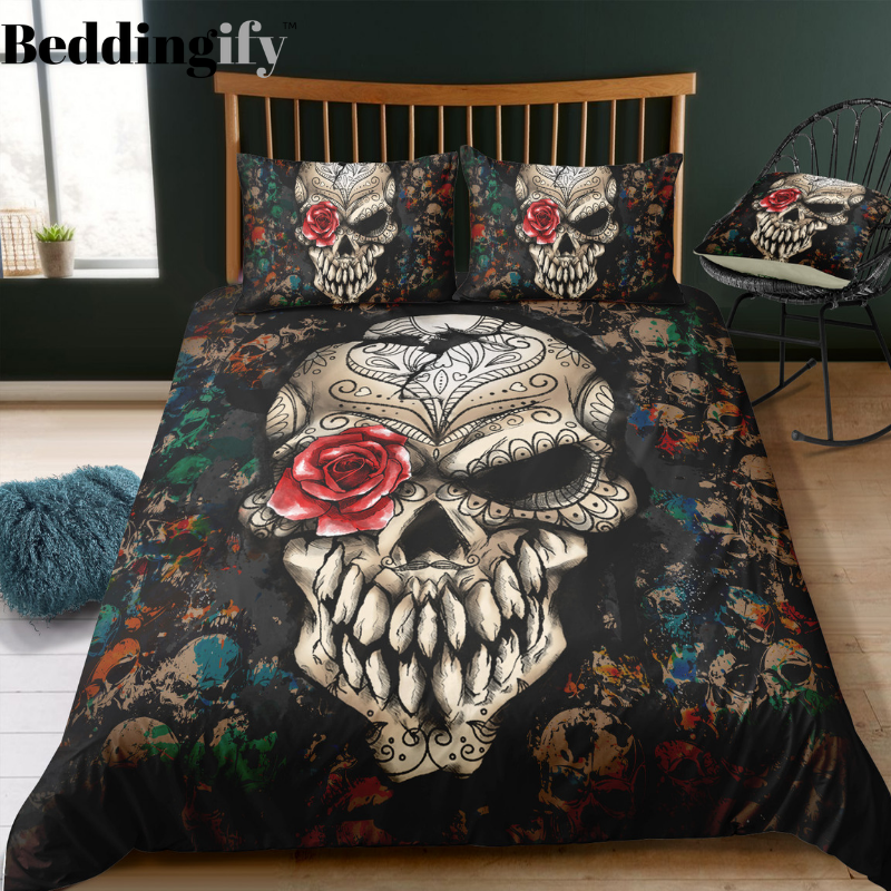 N3 Skull Bedding Set - Beddingify