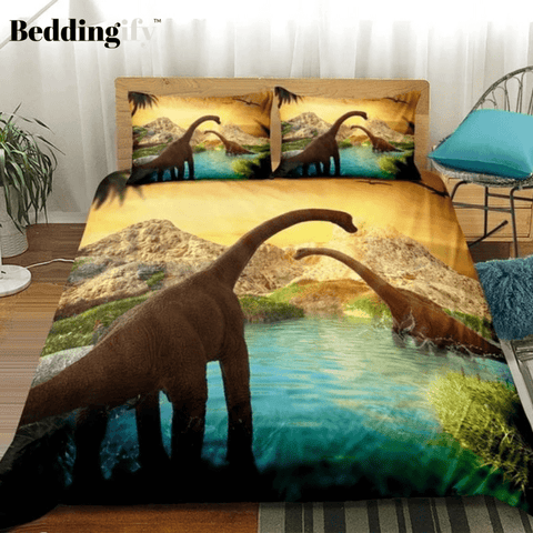 Image of Tanystropheus Sunset Bedding Set - Beddingify