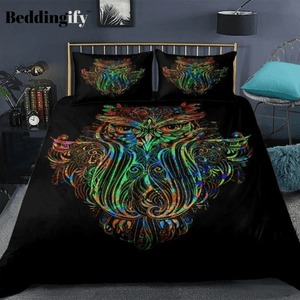 Colorful Owl Bedding Set