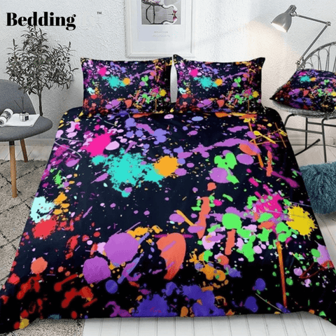 Colorful Splash Abstract Art Bedding Set - Beddingify
