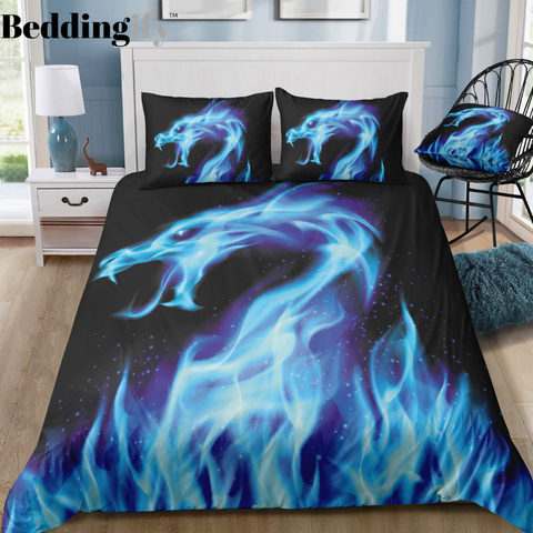 Flame Dragon Bedding Set - Beddingify