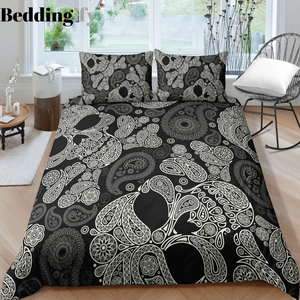F4 Skull Bedding Set - Beddingify