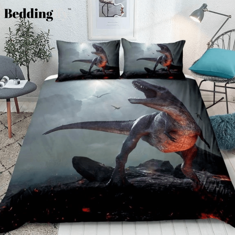 3D Dinosaur Lava Bedding Set - Beddingify