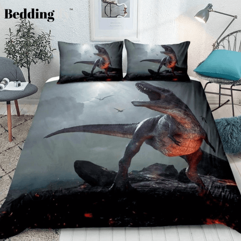 Image of 3D Dinosaur Lava Bedding Set - Beddingify