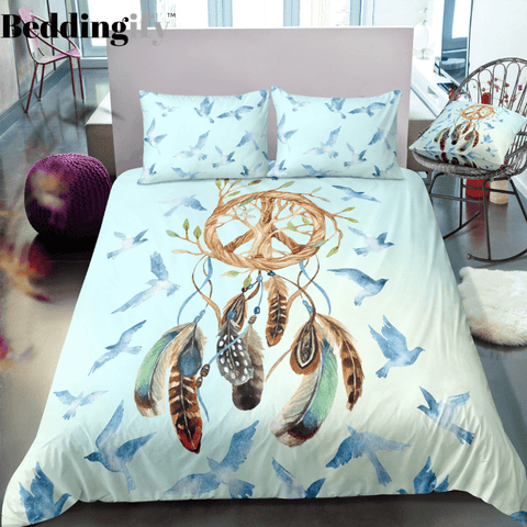 Image of Light Green Dreamcatcher Bedding Set - Beddingify