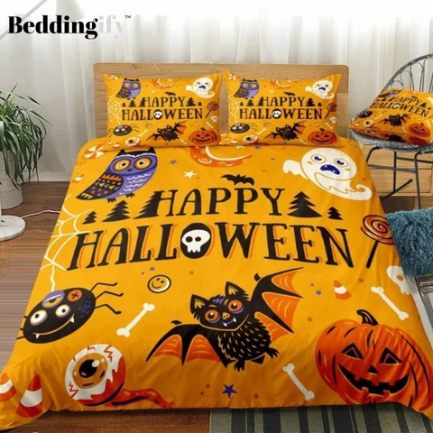 Image of Halloween Pumpkin Bedding Set